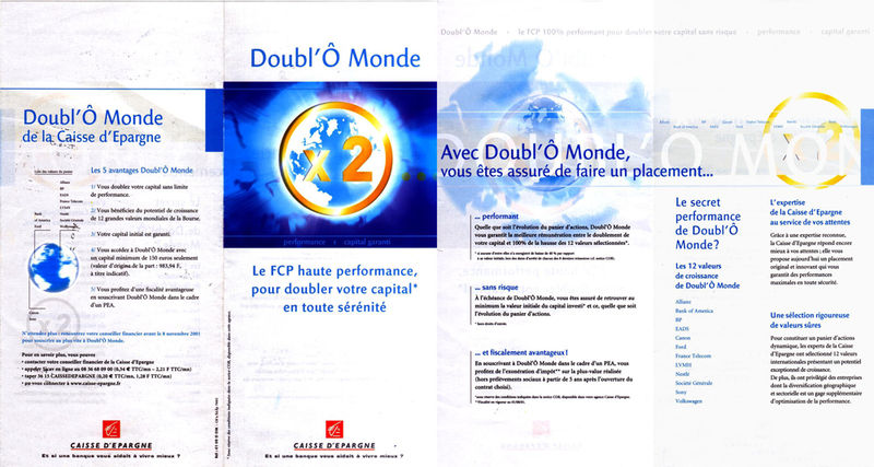 Le dépliant trompeur des fonds Doubl'Ô de l'Ecureuil, à l'origine du litige