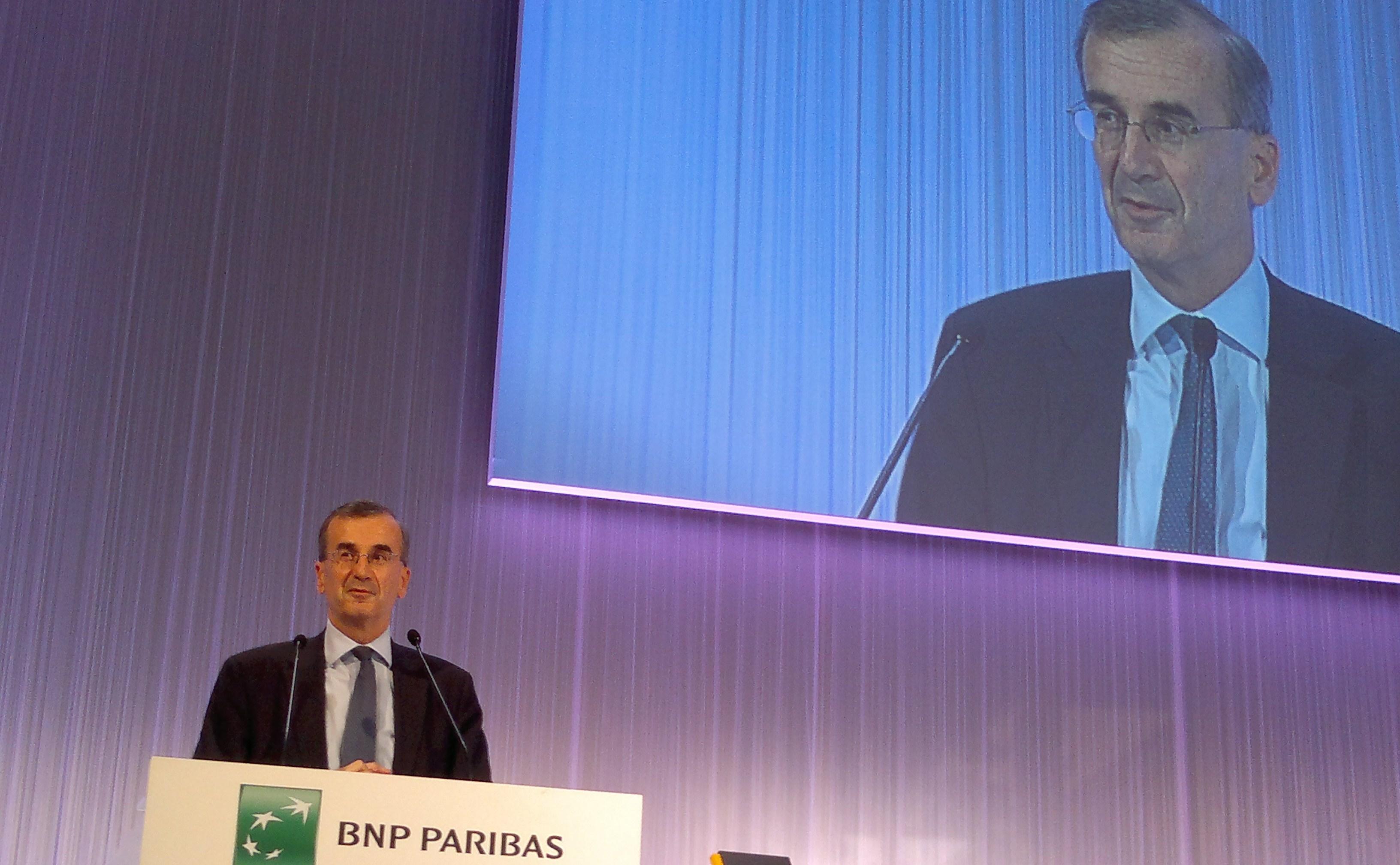 François Villeroy de Galhau, président de la Fondation BNP Paribas, évoque la notion de banque responsable. (photo © GPouzin)