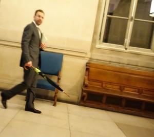 Edgar Bronfman est venu témoigner devant la 5ème chambre correctionnelle de la Cour d'appel de Paris dans le cadre du volet pénal de l'affaire Vivendi, en novembre 2013. (photo © GPouzin)
