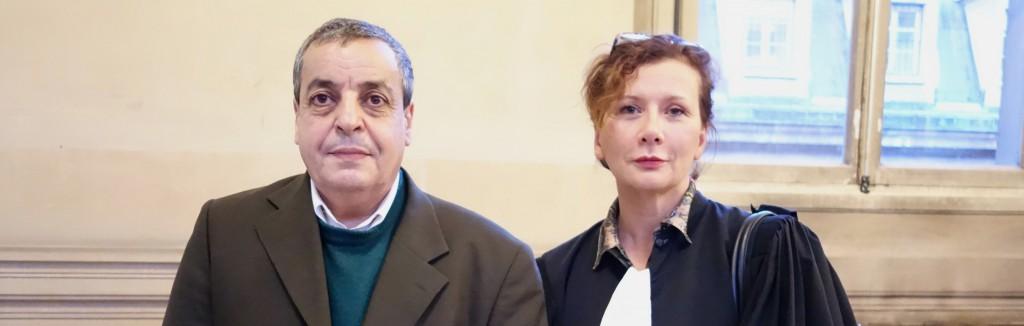 Karim Lahjouji, actionnaire de Vivendi, et son avocate Maître Pascale Roüast-Bertier.  (photo © GPouzin)