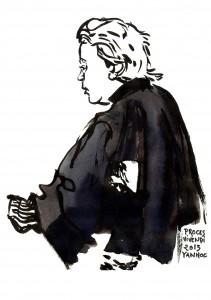 Maître Pascal Lavisse, avocat d'actionnaires individuels lésés par la dérive de Vivendi. Dessin ©Yanhoc