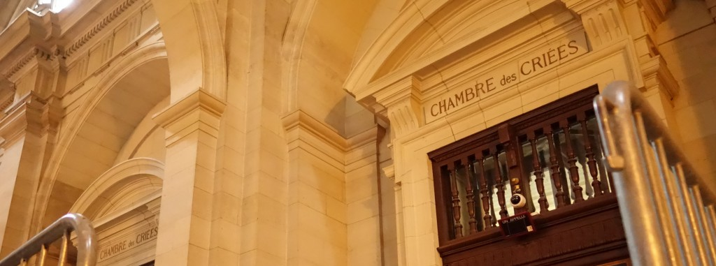 Au palais de justice de Paris, le procès d'Altran et de ses ex-dirigeants devant la 11ème chambre correctionnelle de la Cour d'appel se déroulait dans la Chambre des criées. (photo © GPouzin)