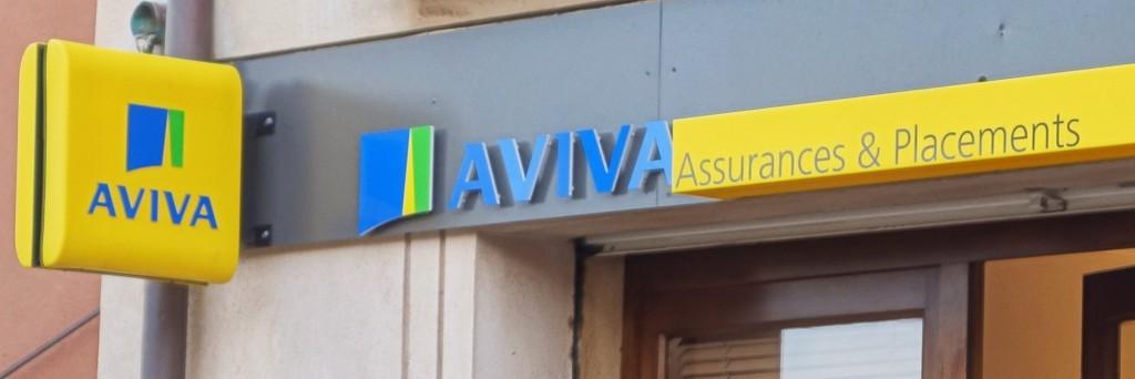 Les nouvelles agences Aviva capitalisent aussi sur l'image de l'Afer, comme si c'était un produit de l'assureur gérant ce placement pour l'association. (photo © GPouzin)