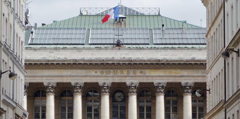 Le drapeau des valeurs françaises bien défendu par la Bourse de Paris. (photo © GPouzin)