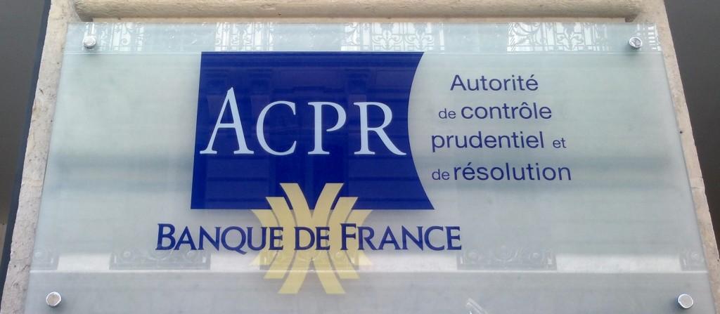 L'ACPR (Autorité de contrôle et de résolution des problèmes) est le gendarme des banques et des assurances. (photo © GPouzin)
