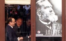 Le centenaire de l'assassinat du journaliste et homme politique Jean Jaurès, à la Taverne du Croissant, rue Montmartre à Paris, était l'occasion de rappeler au président de la République ses engagements pour améliorer la liberté de la presse. (photo © GPouzin)