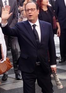 Comme les syndicats de journalistes, François Hollande était venu commémorer le centenaire de l'assassinat de Jean Jaurès, au café du croissant le 31 juillet 2014, pour marquer son attachement à la liberté de la presse défendue par notre illustre confrère. (photo © GPouzin)