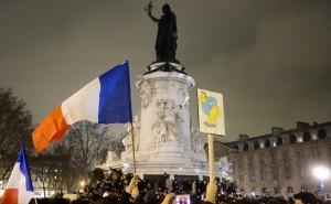 La République en deuil pour la liberté de la presse et la liberté d'expression, le 7 janvier 2015. (photo © GPouzin)