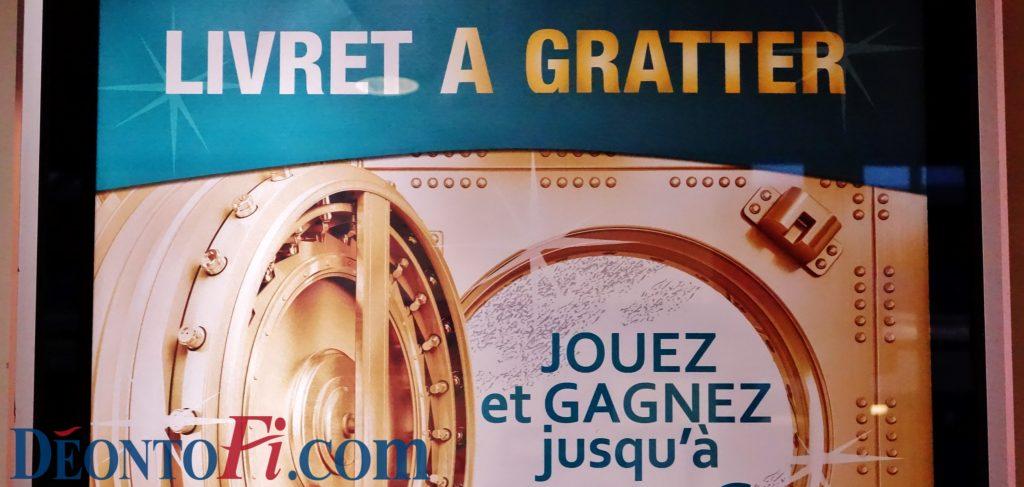 Publicité bancaire Livret A gratter